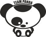 """Наклейка """"Cute team panda"""""""