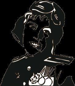 """Наклейка """"девушка солдат"""""""
