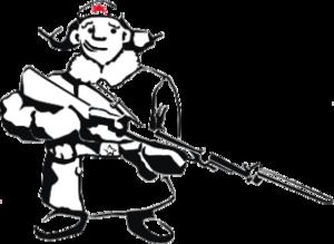 """Наклейка """"солдат с ружьем"""""""