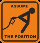 """Наклейка """"Assume position"""""""