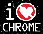 """Наклейка """"I Hate Chrome"""""""