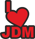 """Наклейка """"I HEART JDM"""""""