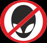 """Наклейка """"Инопланетянам запрещено"""""""