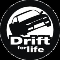 """Наклейка """"drift for life"""""""