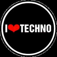"""Наклейка """"I love techno"""""""