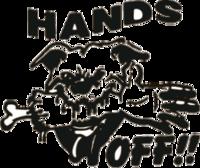 """Наклейка """"Hands off"""""""