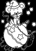 """Наклейка """"Мышонок на елочном шаре"""""""
