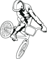 """Наклейка """"Велосипедист-1"""""""