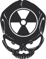 """Наклейка """"Череп радиация"""""""
