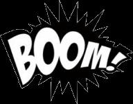 """Наклейка """"Boom"""""""