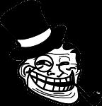 """Наклейка """"Troll в шляпе"""""""